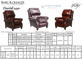 Lounge Chair Dimensions Standard Barcalounger Churchill Ii Recliner Chair Leather Recliner Chair