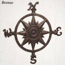 Outdoor Nautical Decor by Indoor Outdoor Nautical Compass Metal Wall Art