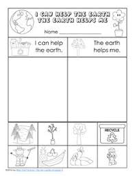 free earth day printable for k 1 cut and paste earth day and