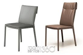 High Back Brown Leather Dining Chairs Isabel Italian Leather Dining Chair By Cattelan Italia