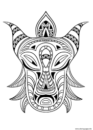 african mask 3 coloring pages printable