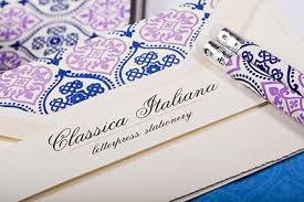 letterpress stationery italiana letterpress