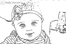 free coloring pages of baby outline mcoloring 10586