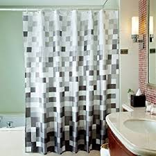 Black Grey And White Shower Curtain Amazon Com Uphome 72 X 78 Inch Fashion Grey Cube Pattern Ombre