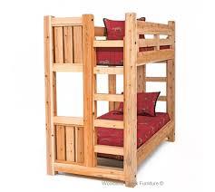 Solid Wood Bunk Bed Barn Wood Bunk Bed Rustic Bunk Bed Lodge - Solid wood bunk bed