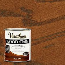 varathane 1 qt 3x red oak premium wood stain 266259 the home depot
