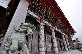 shishi statue shishi imperial guardian lion statue at a pagoda temple