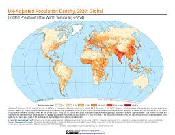 Population World Map by Maps Gridded Population Of The World Gpw V4 Sedac