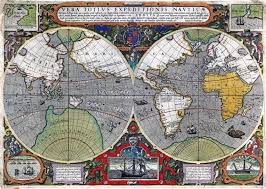 world 1595 wall map mural by iudocus hondius wall mural map of the world 1595