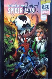ultimate spider man 1 wizard ace edition signed brian bendis