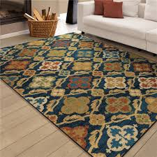 Bright Blue Rug 3837 5x8 Orian Rugs 3837 5x8 Bright Color Medallion Tuscan Field