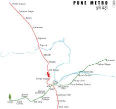 La Metro Map Pdf by Pune Metro Wikipedia