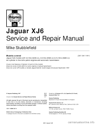 jaguar xj6 1997 2 g workshop manual
