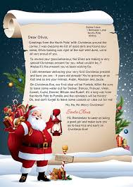 personalized letter from santa personalised letter from santa