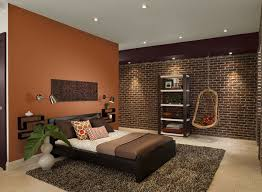 Delighful Bedroom Paint Ideas With Dark Brown Furniture What - Bedroom orange paint ideas