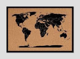 Cork World Map by World Map U2013 Framed U2013 Q Suber
