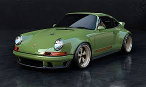 porsche 911 dark green this custom 1990 singer porsche 911 packs 500 horsepower