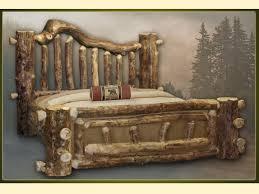Rustic Log Bedroom Furniture Rustic Beds White Finger