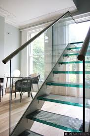 Glass Stair Banister Scenic Clear Glass Staircase Banister With Glass Steps Ladder As