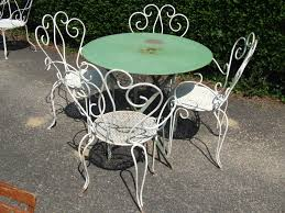 Metal Garden Chairs And Table Interesting 70 Iron Garden Furniture Vintage Design Ideas Of