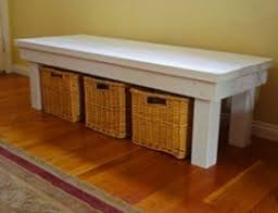 Diy Outdoor Storage Bench Seat by Indoor Storage Benches Foter