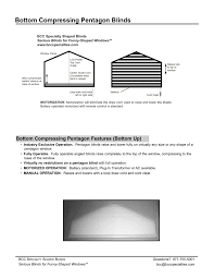 bcc specialties pentagon blind specifications