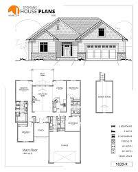 2 Car Garage Sq Ft 1839 R Spokane House Plans