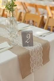 how to make burlap table runners for round tables rustic elegant wedding at holman ranch lace table runners lace