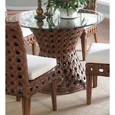 wicker dining table with glass top wicker dining table bases dining room ideas