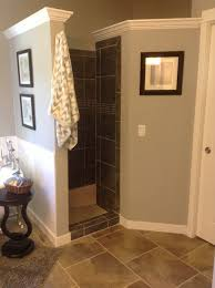 Bathroom Shower Door Ideas Walk In Shower Still Private U0026 No Door To Clean This Is