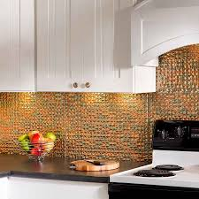 copper backsplash for kitchen kitchen copper backsplash tin ceilings lowes fasade backsplash