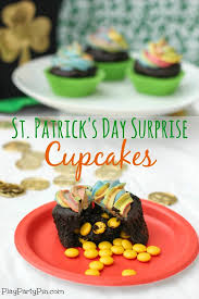 st patrick u0027s day surprise cupcakes play party plan