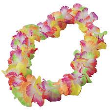 hawaiian leis rainbow large petal hawaiian leis wholesale novelty party