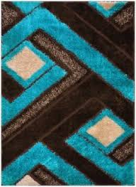 Area Rugs With Turquoise And Brown Royal Collection Turquoise Blue Brown Contemporary Geometric