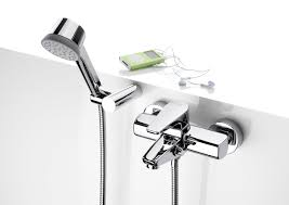roca esmai wall mounted bath shower mixer with automatic diverter