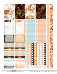 printable planner free pinterest fall glam free printable planner stickers for the classic size happy