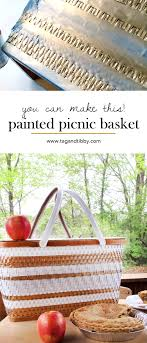 vintage picnic basket how to paint a picnic basket tag tibby