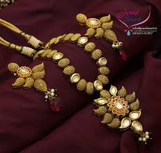 real gold necklace designs images Gold plated real kundan cubic zircon ruby stones necklace earrings jpg