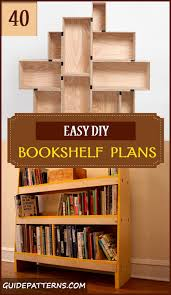 Woodworking Bookcase Plans Free by 40 Easy Diy Bookshelf Plans Guide Patterns