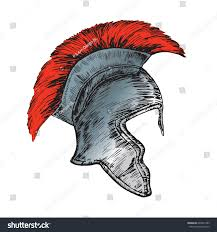 helmet roman legionnaire hand drawn doodle stock vector 697021483