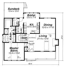 cape cod house plan with 3 bedrooms and 2 5 baths plan 5834