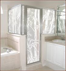 Decorative Shower Doors Etching Glass Panel With Bamboo Search Shower Door