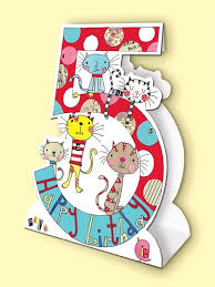 cats age 5 birthday card stand up birthday card karenza paperie