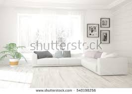 home design wall pictures white living room interior sofa winter stock illustration 540198256