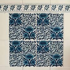 wallpaper for exterior walls india oreton blue decorative tiles 152x152mm exterior use