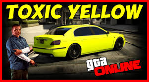 gta 5 online modded toxic yellow crew color tutorial youtube