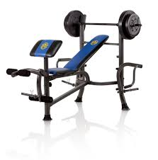 marcy standard bench with 80 lb weight set with butterfly home gym