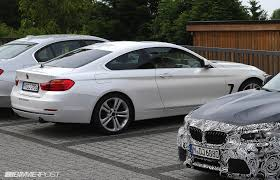 matte white bmw first looks at 4 series coupe in mineral white black and glacier