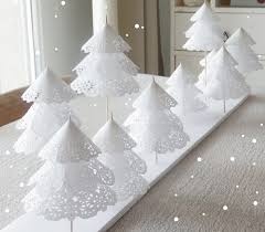 White Christmas Table Decorations by Paper Doily Christmas Trees Darwin U0027s Party Website