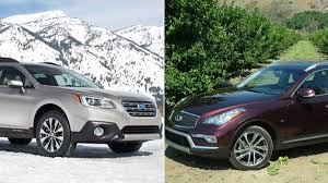 compare lexus nx vs acura rdx faceoff subaru outback vs infiniti qx50 the globe and mail